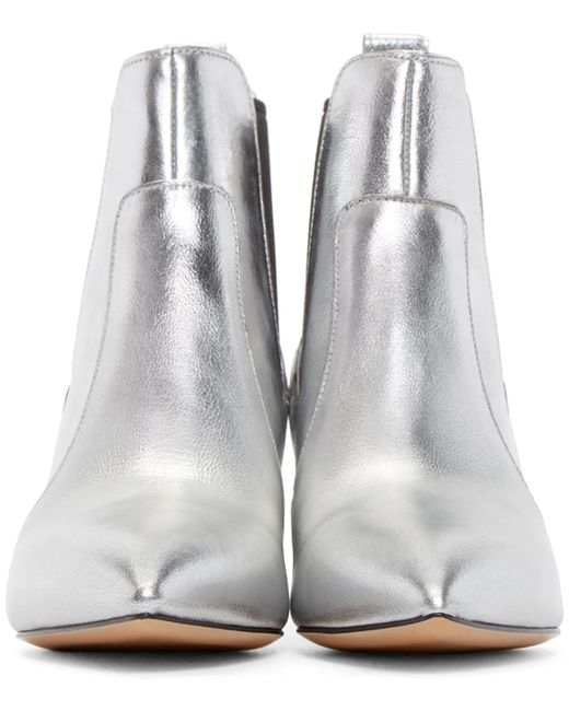 marc jacobs silver metallic kim chelsea boots in silver lyst. Black Bedroom Furniture Sets. Home Design Ideas