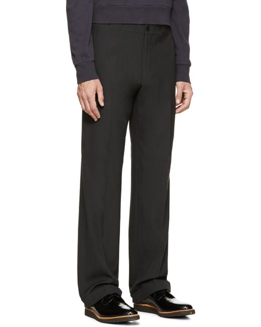 Paul Smith | Black Grey Straight Leg Trousers for Men | Lyst