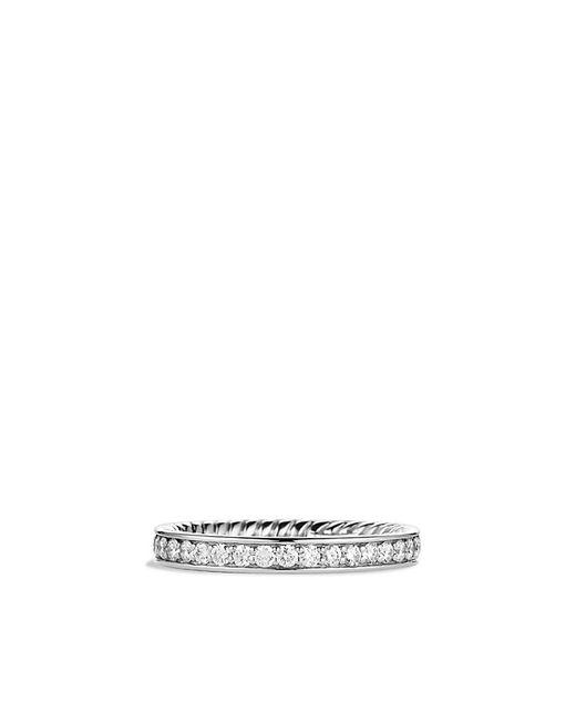 David Yurman | Metallic Eternity Wedding Band With Diamonds In Platinum | Lyst