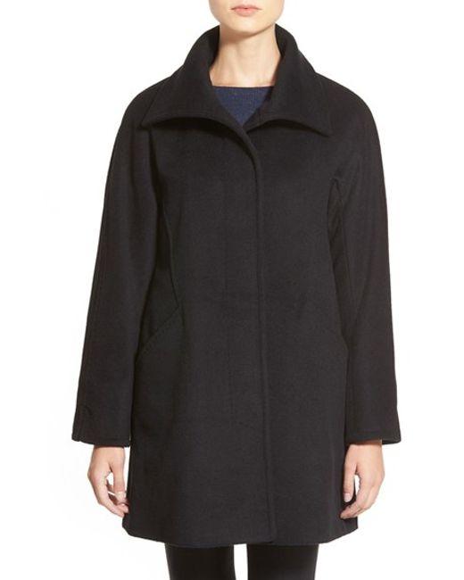 Ellen Tracy | Black Convertible Collar Kimono Sleeve Coat | Lyst