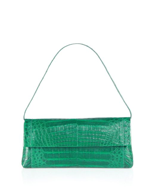 Nancy Gonzalez | Green Gotham Crocodile Clutch | Lyst