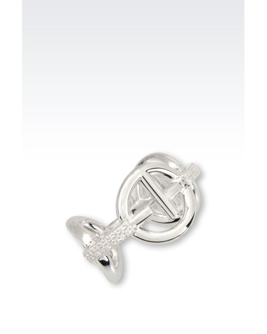 Emporio Armani | Metallic Ring In Sterling Silver | Lyst