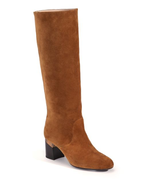 lanvin suede knee high boots in brown camel save 54