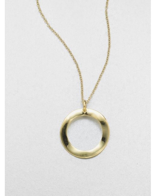 Ippolita   Metallic Glamazon 18k Yellow Gold Wavy Circle Pendant Necklace   Lyst