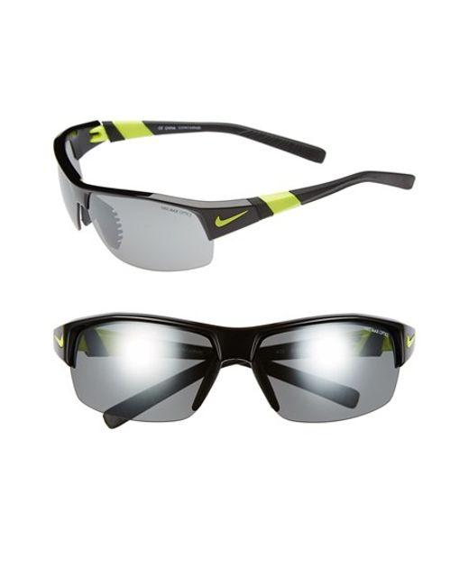 Nike | Green 'show X2' Semi Rimless 69mm Sunglasses for Men | Lyst