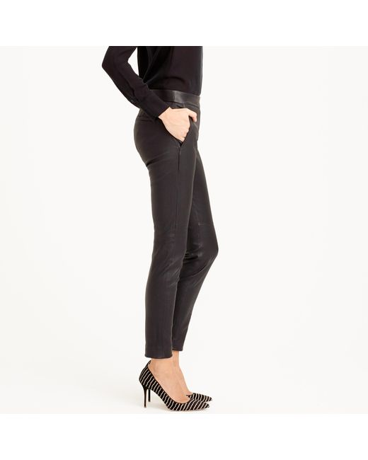 J.Crew | Black Collection Leather Ryder Pant | Lyst