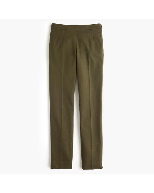 J.Crew | Green Martie Pant In Bi-stretch Cotton | Lyst