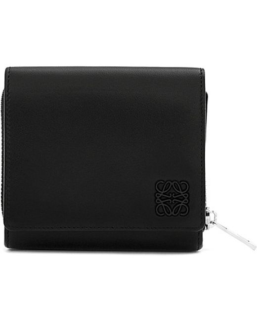 Loewe | Black Small Leather Wallet | Lyst