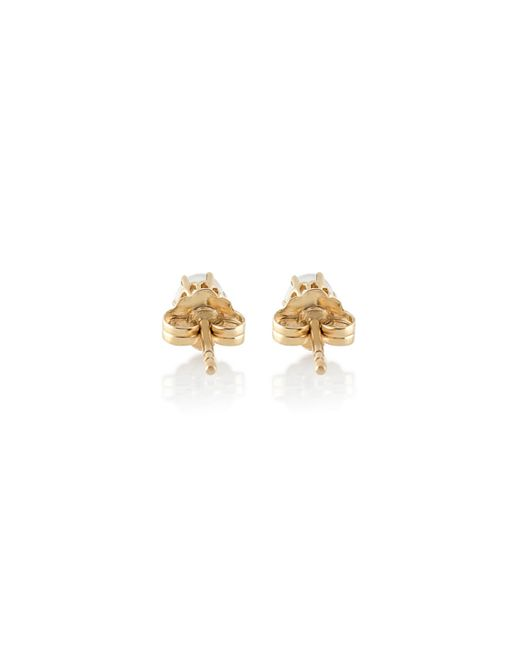 Anna Sheffield | Yellow Moonstone Solitaire Stud Earrings | Lyst