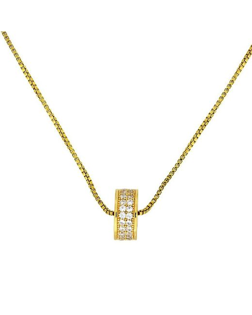 Azendi | Metallic Gold Vermeil Pavé Slider Pendant | Lyst