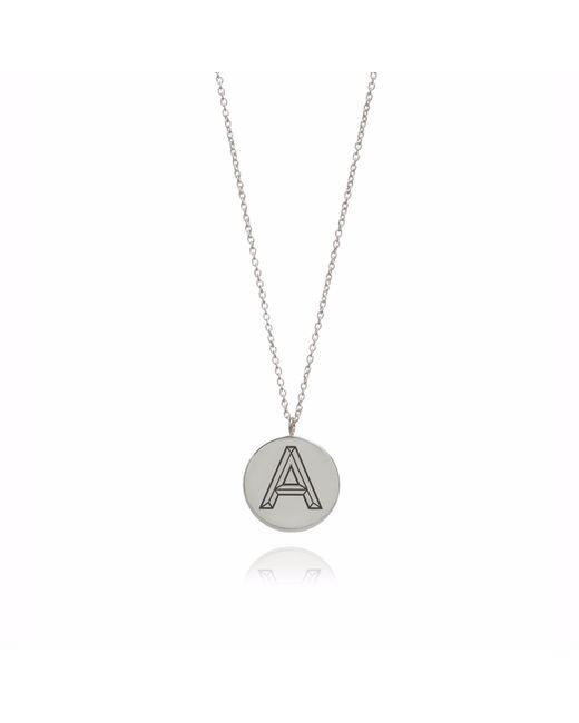 Myia Bonner | Metallic Silver Facett Initial Necklace A-z | Lyst