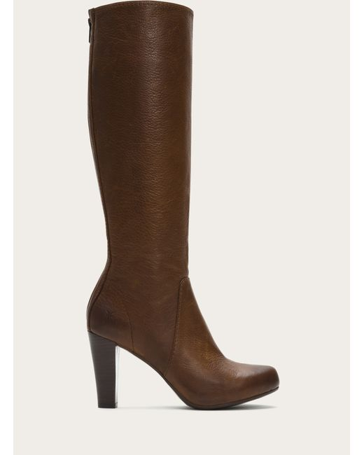 Frye | Brown Marissa Leather Knee-High Boots | Lyst