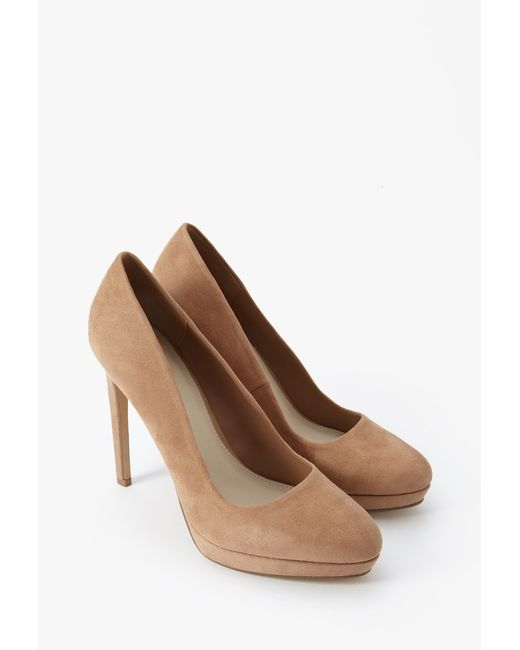Forever 21 | Brown Faux Suede Pumps | Lyst