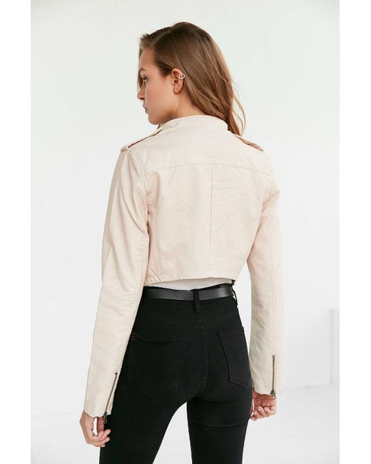 Members Only High Low Moto Jacket In Pink Save 30 Lyst