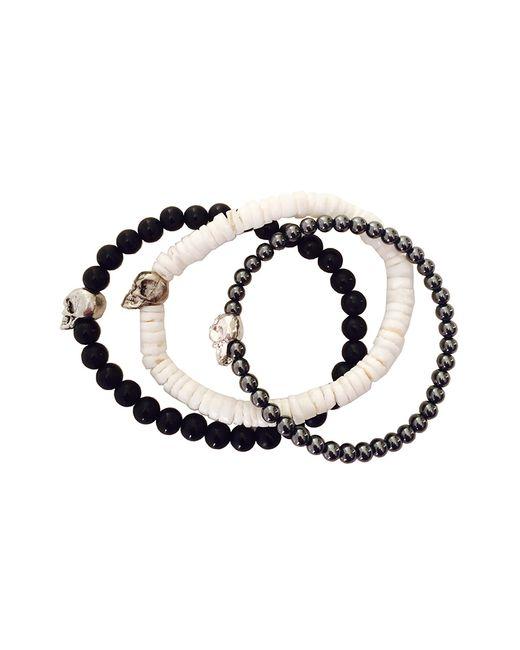 Duchess Of Malfi | Black Skull Bead Bracelet for Men | Lyst