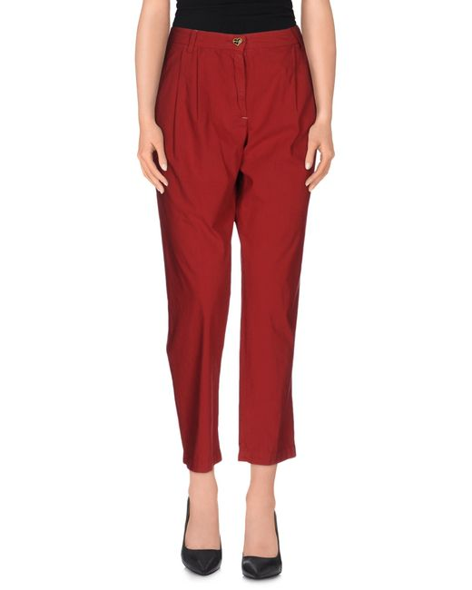 Twin Set | Red Casual Trouser | Lyst