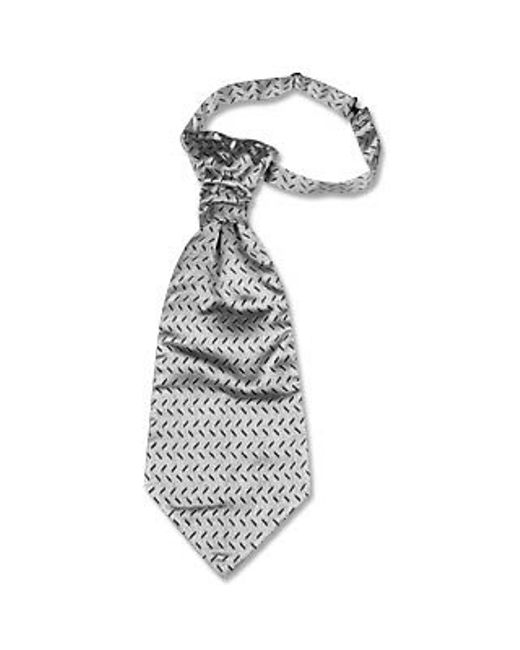 FORZIERI | Metallic Silver Mono Tail Plastron for Men | Lyst
