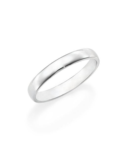 De Beers | Metallic Platinum Wide Court Wedding Band Ring | Lyst