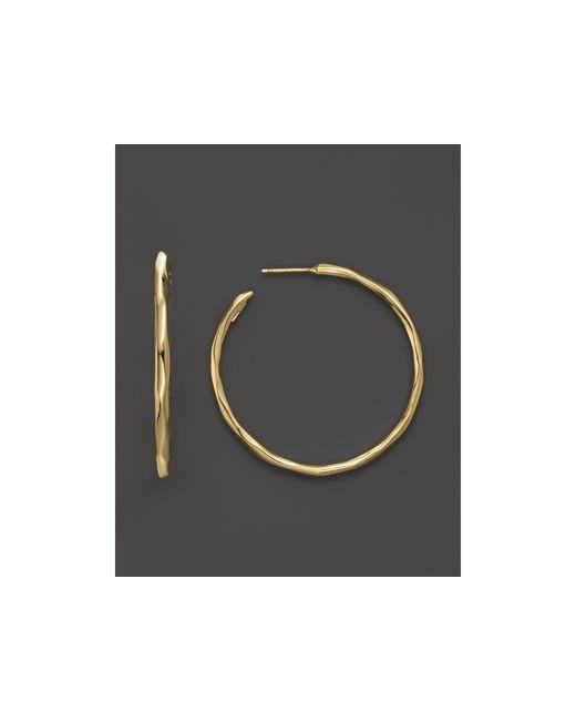 Ippolita   Metallic 18k Yellow Gold Glamazon #3 Faceted Hoop Earrings   Lyst