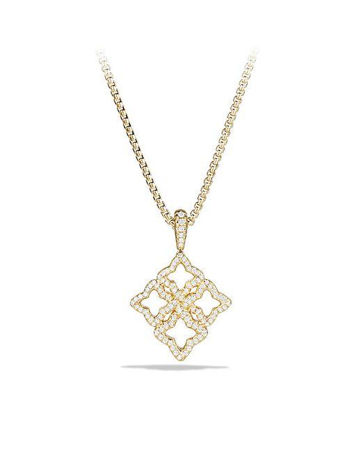 David Yurman | Metallic Venetian Quatrefoil Pendant Necklace With Diamonds In Gold | Lyst