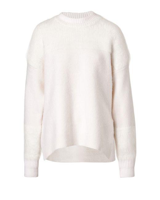 Vanessa Bruno | Merino Wool And Angora Blend Pullover - White | Lyst