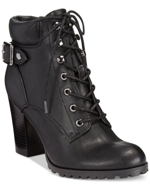 Style & Co. | Black Caitlin Lace-up Booties | Lyst