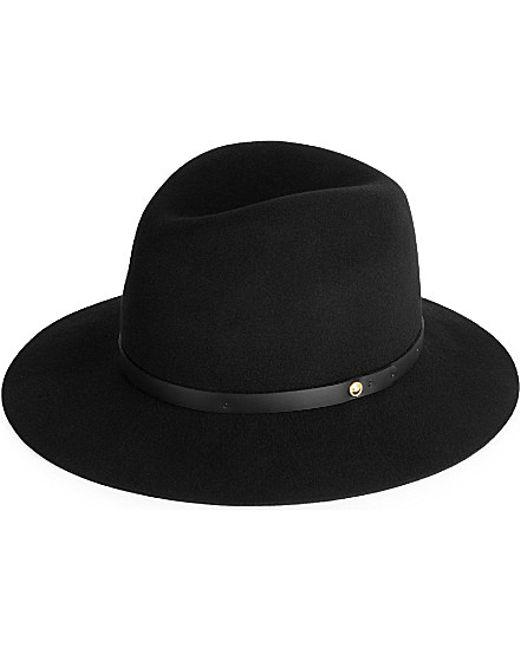 Rag & Bone | Black Floppy Brim Fedora Hat | Lyst