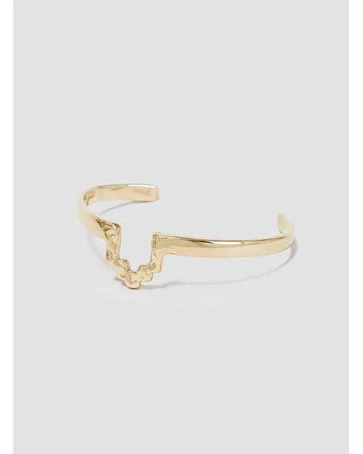 Odette New York | Metallic Stepped Cuff Brass | Lyst