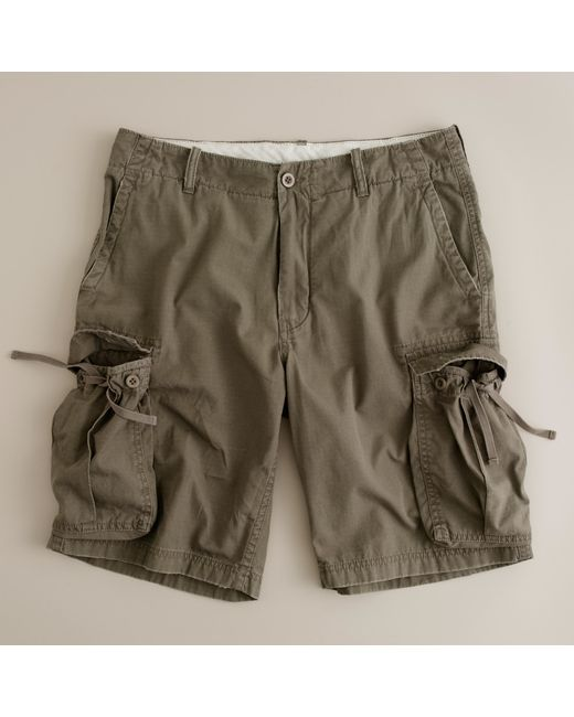 J.Crew | Natural Ripstop Cargo Short for Men | Lyst
