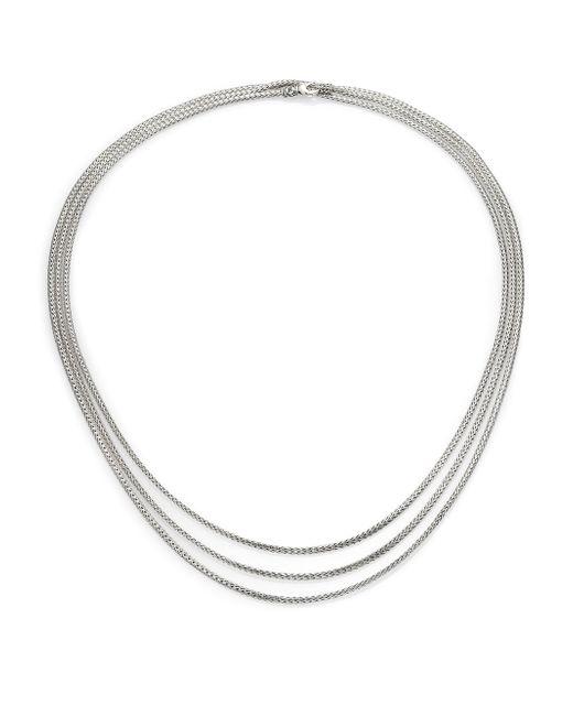 John Hardy | Metallic Classic Chain Sterling Silver Mini Multi-strand Necklace | Lyst