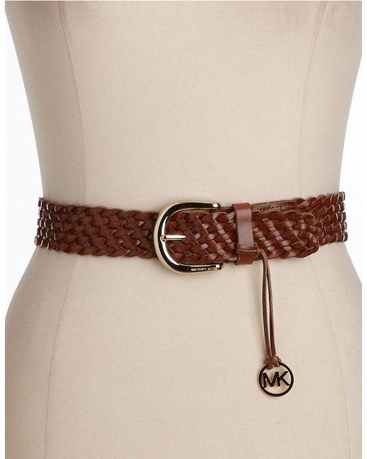MICHAEL Michael Kors   Brown Braided Belt   Lyst