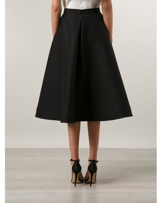 vika gazinskaya midi circle skirt in black lyst