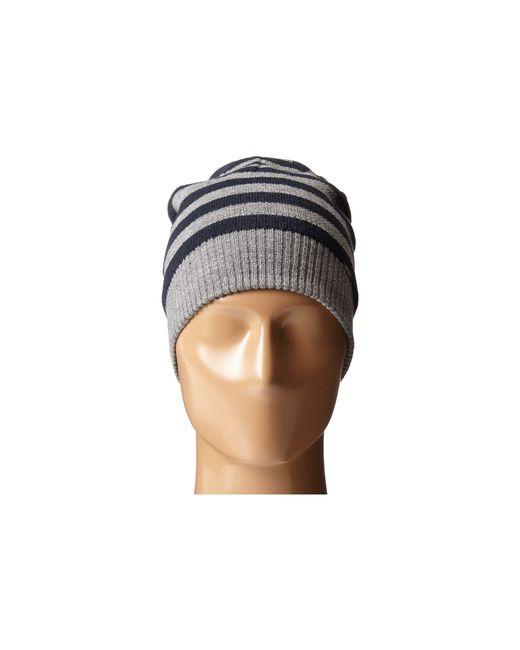 DIESEL   Gray Grofys Stripe Knit Beanie   Lyst