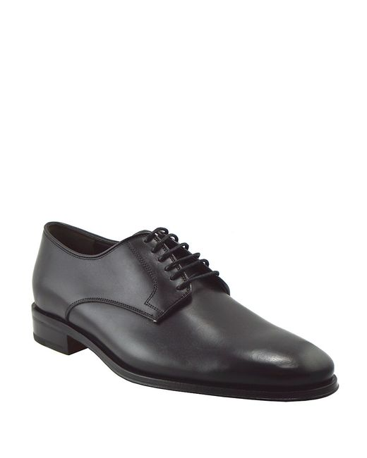 Bruno Magli | Black Werter Leather Lace-up Derby Shoes for Men | Lyst