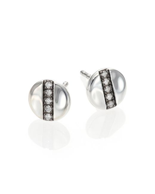 Ippolita | Metallic Glamazon Stardust Diamond & Sterling Silver Mini Disc Stud Earrings | Lyst