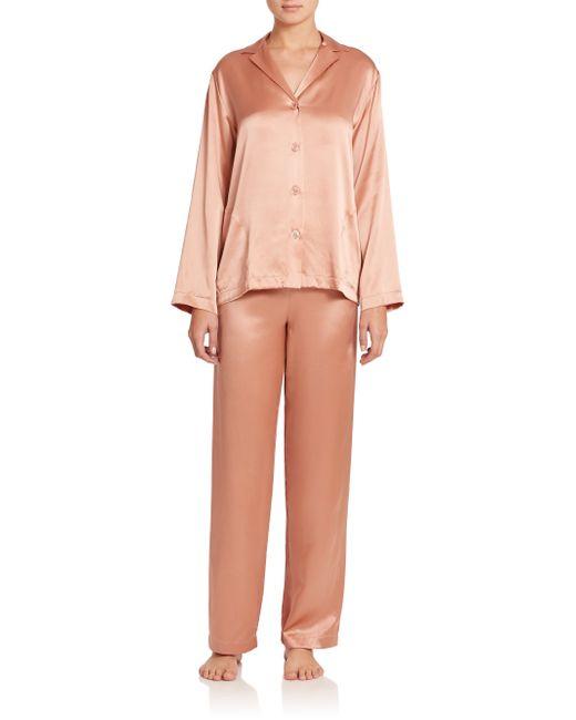 La Perla | Pink Silk Pajamas | Lyst