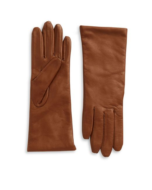 Lord & Taylor | Brown Leather Gloves | Lyst