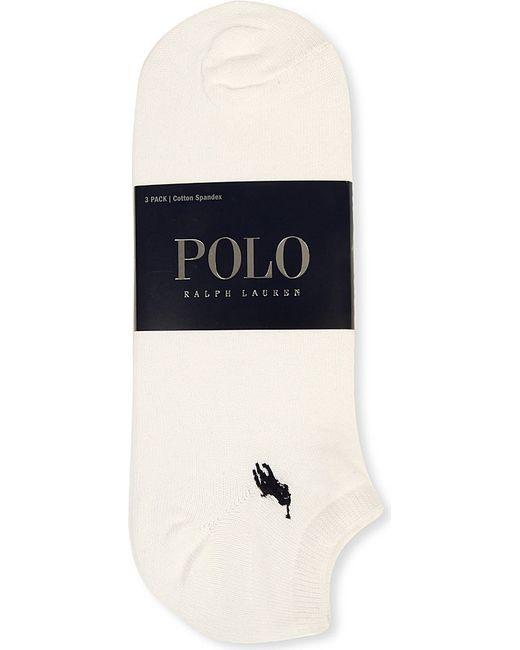 Polo Ralph Lauren | White Pack Of Three Trainer Socks for Men | Lyst