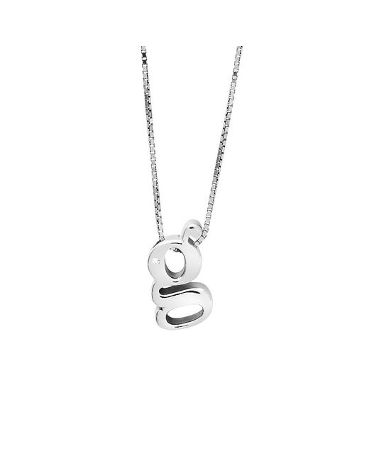 Azendi | Metallic Letter G Sterling Silver Diamond Pendant | Lyst