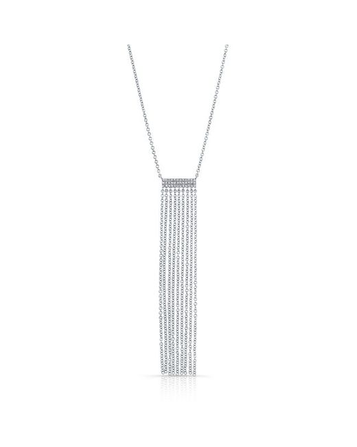Anne Sisteron - 14kt White Gold Diamond Temptress Necklace - Lyst