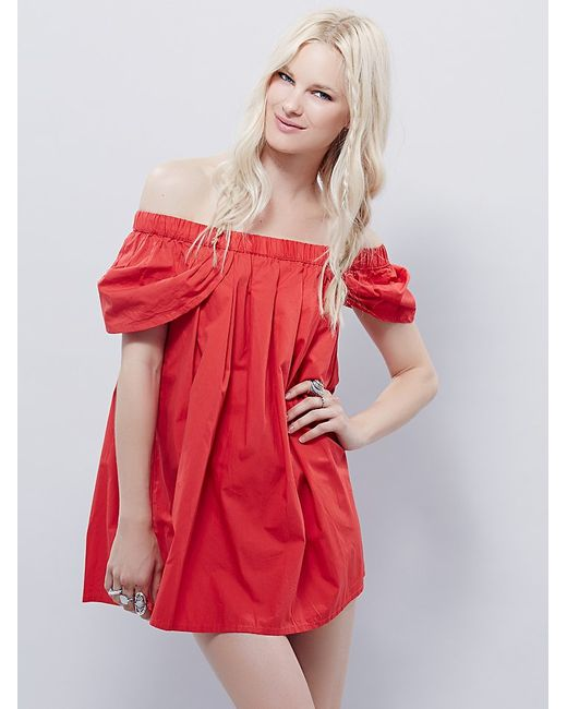 Free People | Red Willow Dress | Lyst