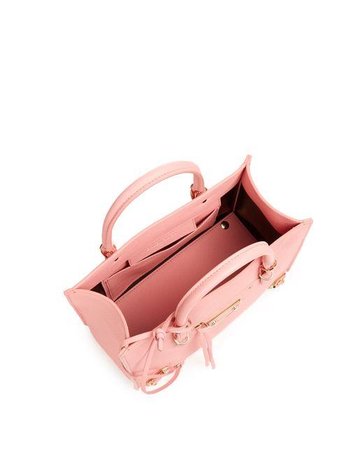 89f8dce755 balenciaga outlet paris - Balenciaga Papier A6 Metallic-Edge Leather  Shoulder Bag in Pink .
