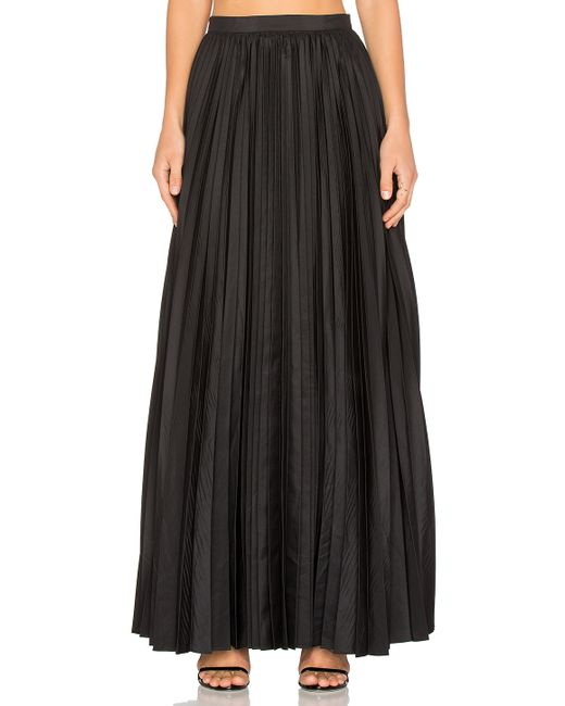 blaque label pleated maxi skirt in black save 58 lyst