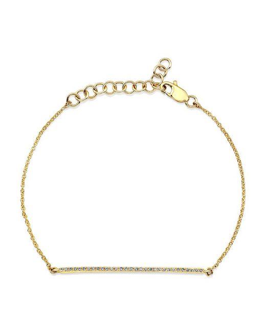 Anne Sisteron | Metallic 14kt Yellow Gold Diamond Bar Bracelet | Lyst