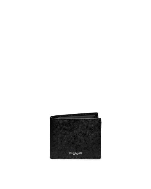 Michael Kors   Black Harrison Leather Billfold Wallet for Men   Lyst