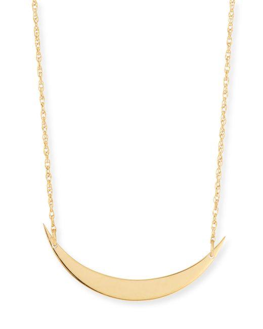 Jennifer Zeuner | Metallic Skylar Horizontal Moon Layered Necklace | Lyst