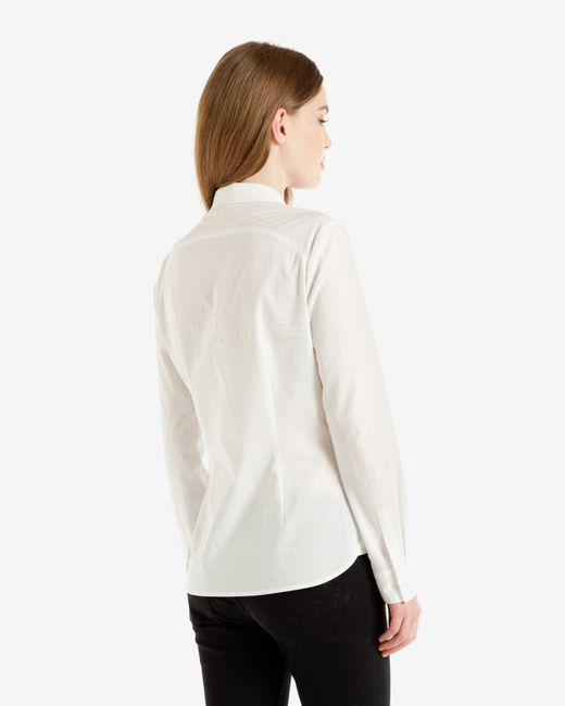Ted Baker | White Striped Cotton Shirt | Lyst