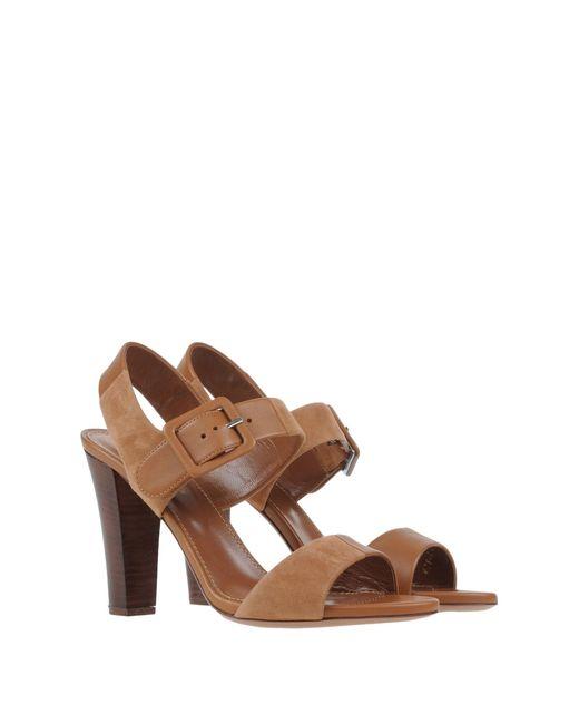 sergio rossi sandals in brown lyst. Black Bedroom Furniture Sets. Home Design Ideas