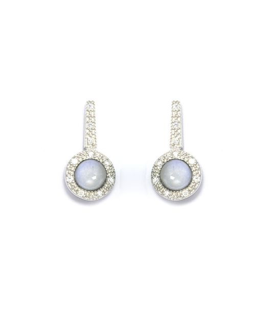 V Jewellery   Brilliance Blue Earrings   Lyst