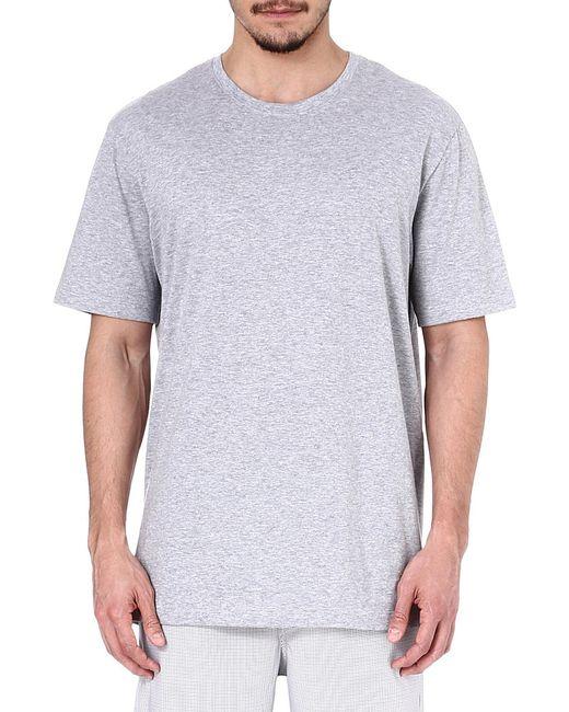 Hanro | Gray Superior Crewneck T-shirt for Men | Lyst